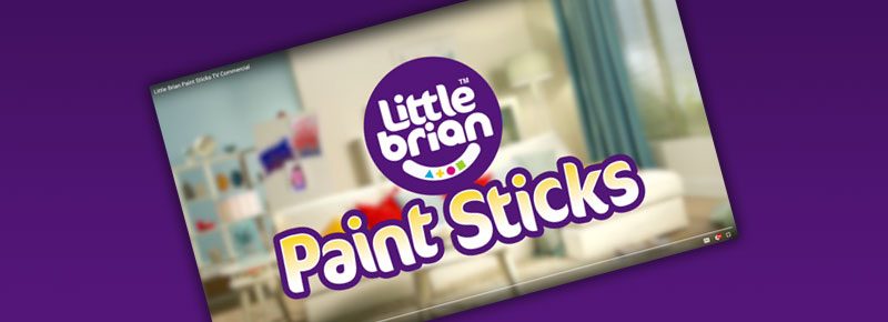 LITTLE BRIAN PAINT STICKS TV COMMERCIAL!