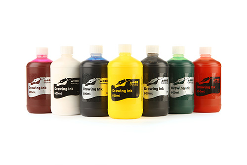 Drawing Ink Single Std Colours 600ml Bottle