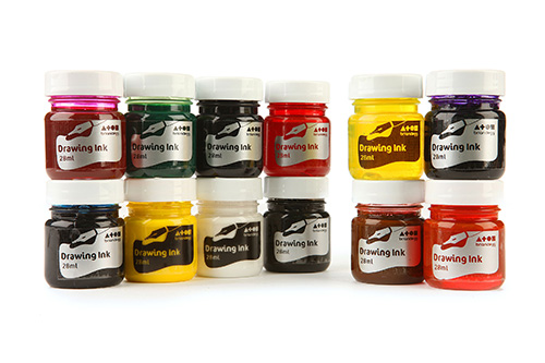 Drawing Ink Assorted Std Colours 12x28ml Bottles