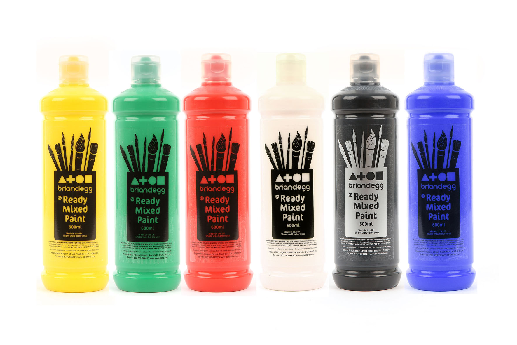Ready Mixed Paint Single Std Colours 600ml Bottle