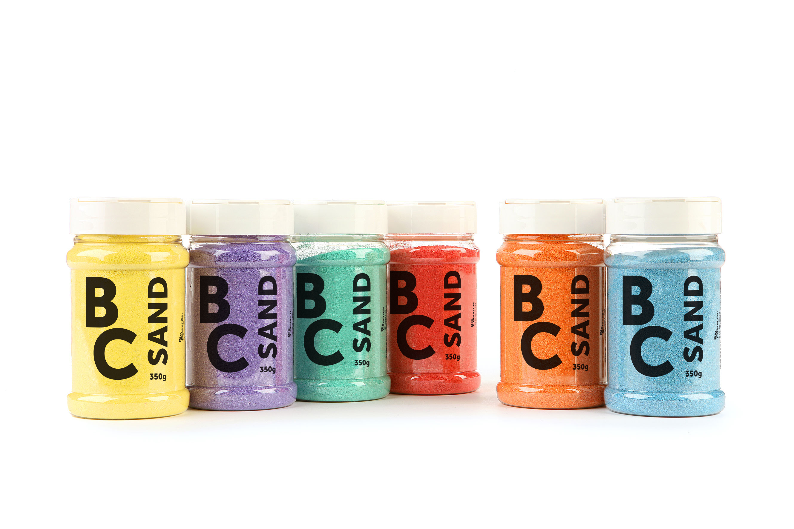 Pastel Sand Assorted Colours 8x350g Shakers