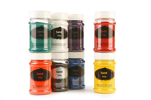 Coloured Sand Assorted Colours 8x350g Shakers
