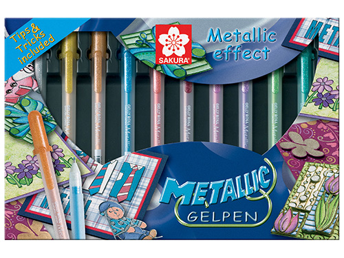 Metallic Set 10 Gelpens