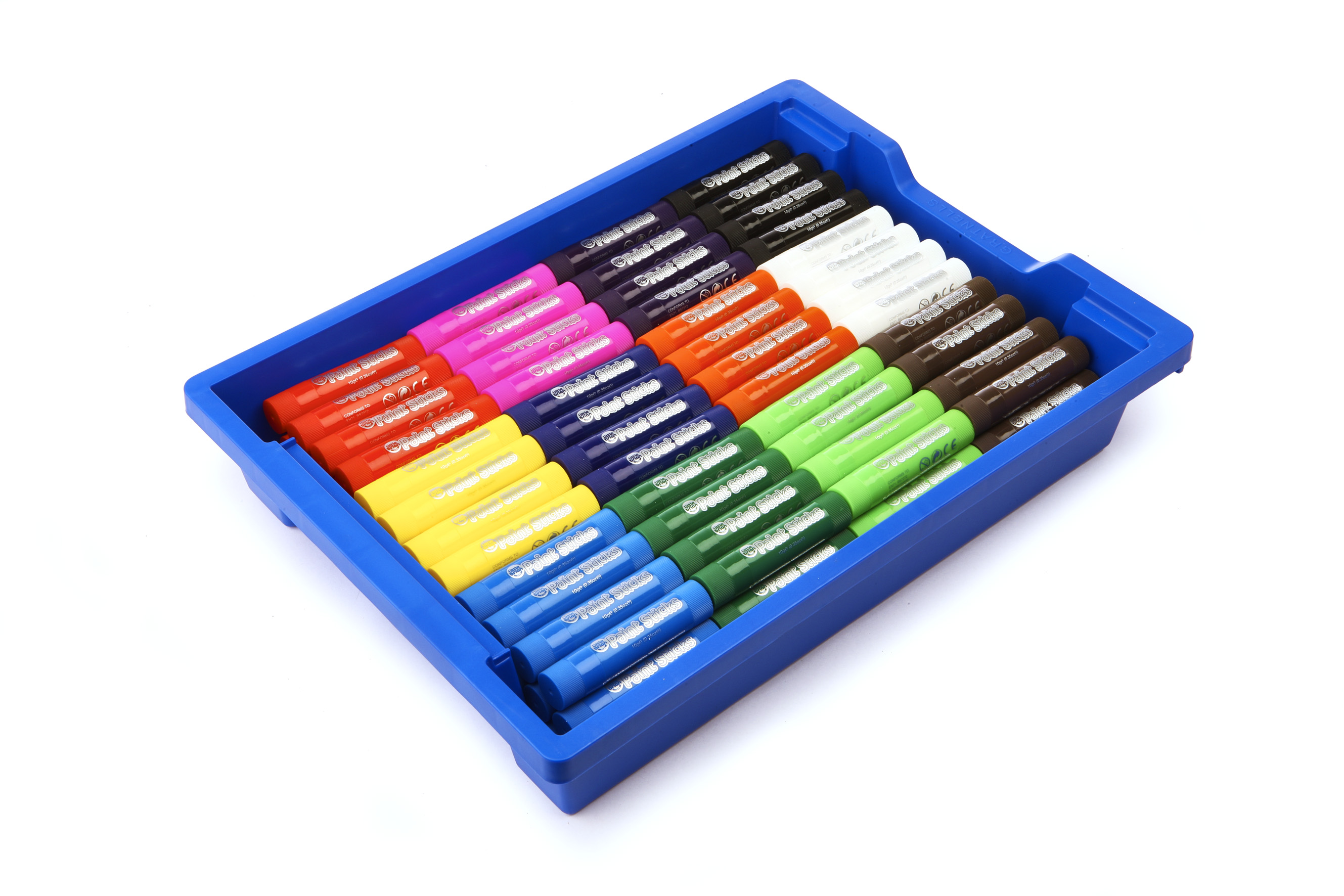 Little Brian Paint Sticks Classic Colours 144 Classpack in Gratnell Tray