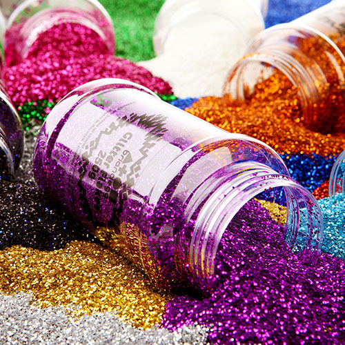 Spring Glitter Mixed Pack 6x250g Shakers