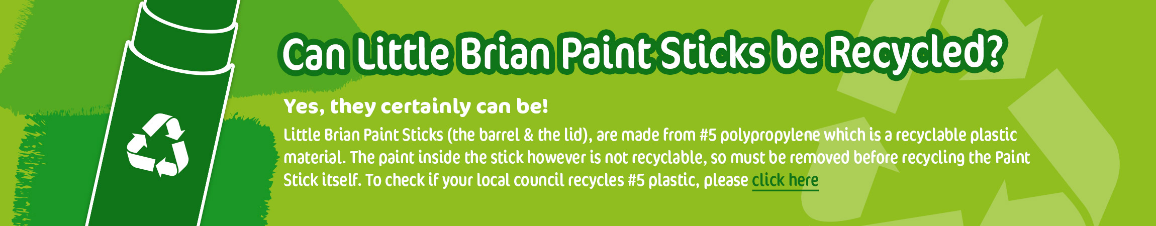 Little Brian Recyclable Paint Sticks